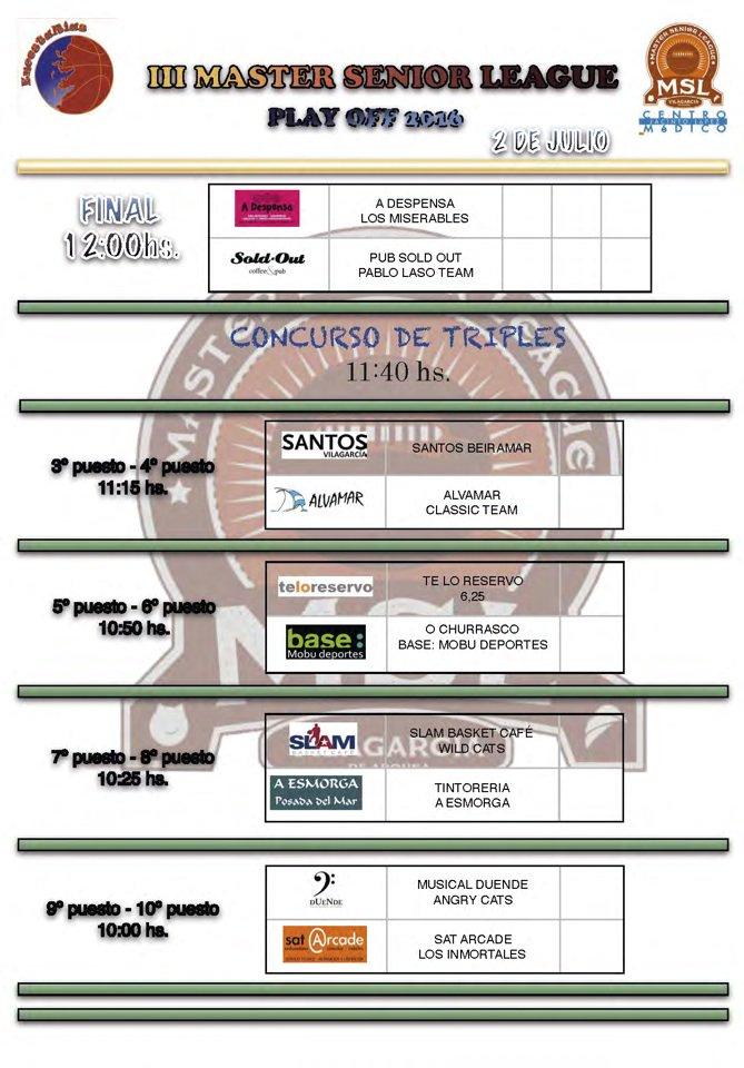 horarios final plaza galicia